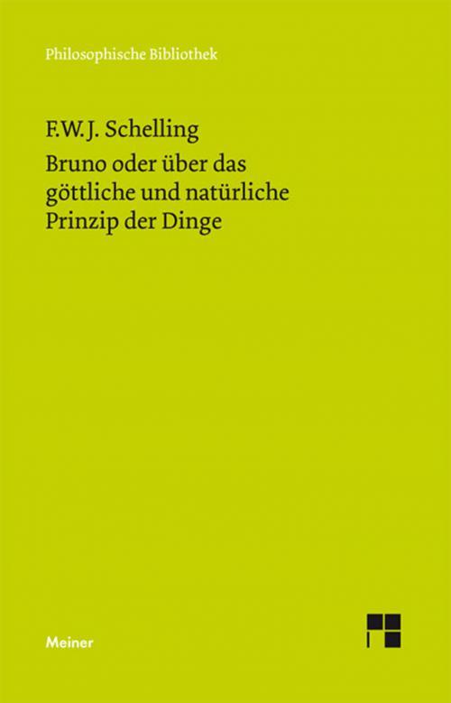 Bruno oder über das göttliche und natürliche Prinzip der Dinge cover
