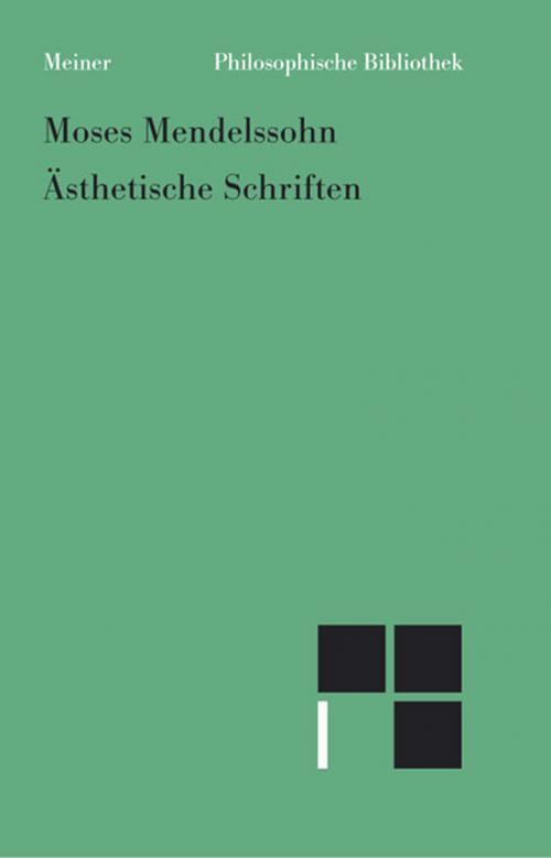 Ästhetische Schriften cover