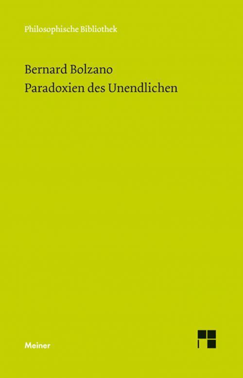 Paradoxien des Unendlichen cover