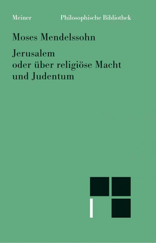Jerusalem oder über religiöse Macht und Judentum cover