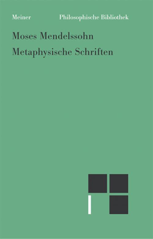 Metaphysische Schriften cover
