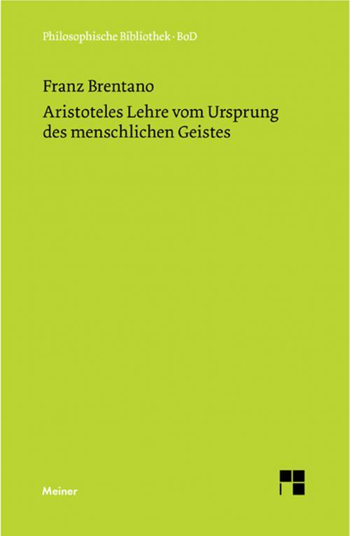 Aristoteles Lehre vom Ursprung des menschlichen Geistes cover