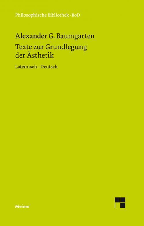 Texte zur Grundlegung der Ästhetik cover