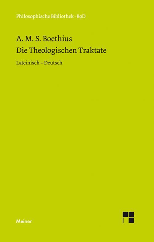 Die theologischen Traktate cover
