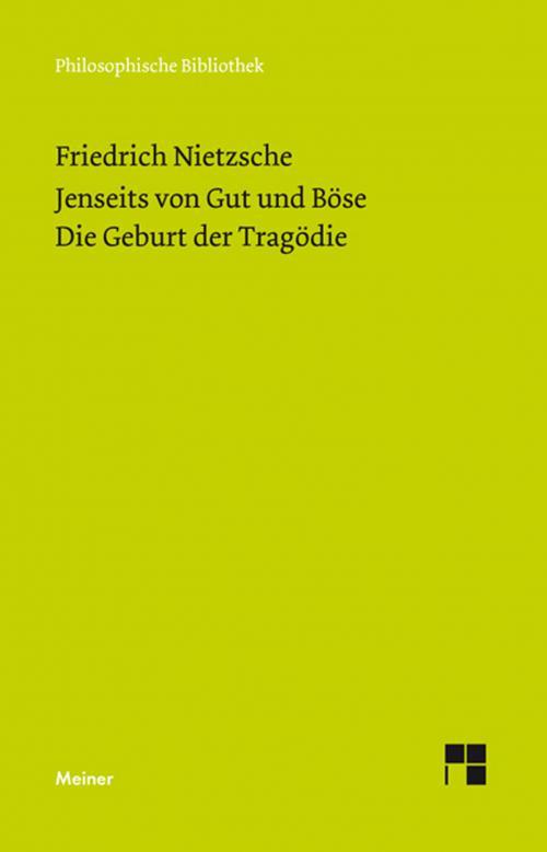 Jenseits von Gut und Böse (1886). Die Geburt der Tragödie (Neue Ausgabe 1886) cover