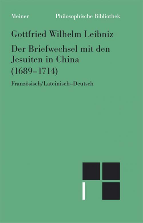 Der Briefwechsel mit den Jesuiten in China (1689-1714) cover