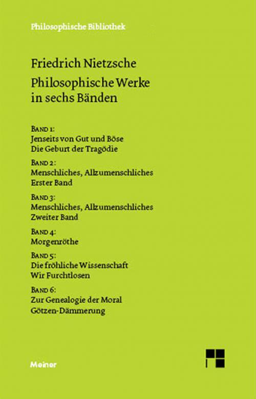 Philosophische Werke in sechs Bänden cover