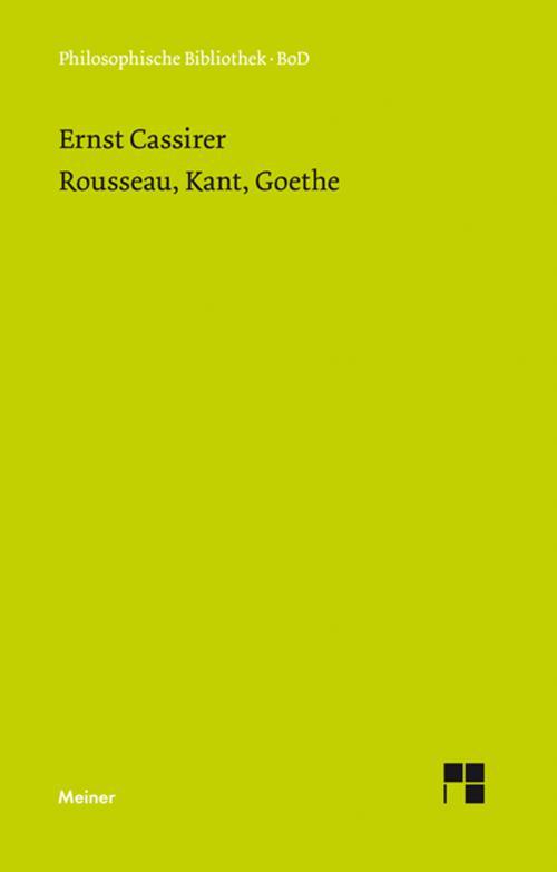 Rousseau, Kant, Goethe cover