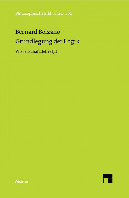 Grundlegung der Logik cover
