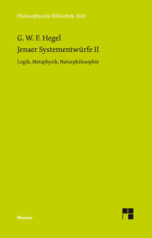 Jenaer Systementwürfe II cover