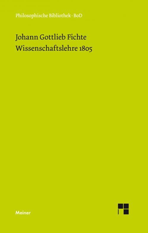 Wissenschaftslehre (1805) cover