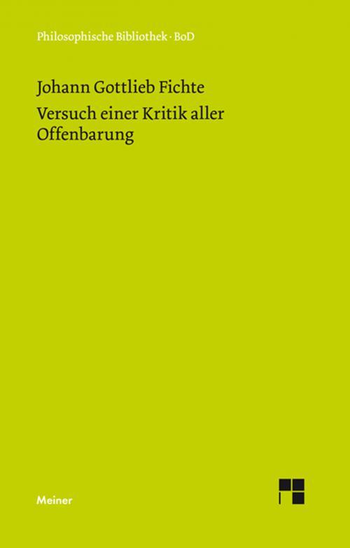 Versuch einer Kritik aller Offenbarung (1792) cover