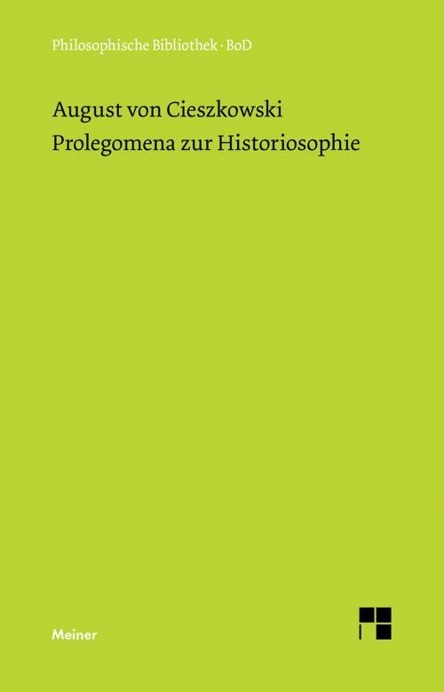 Prolegomena zur Historiosophie cover