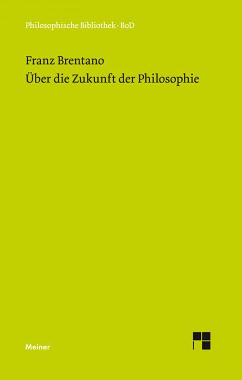 Über die Zukunft der Philosophie nebst den Vorträgen: Über die Gründe der Entmutigung auf philosophischem Gebiet cover