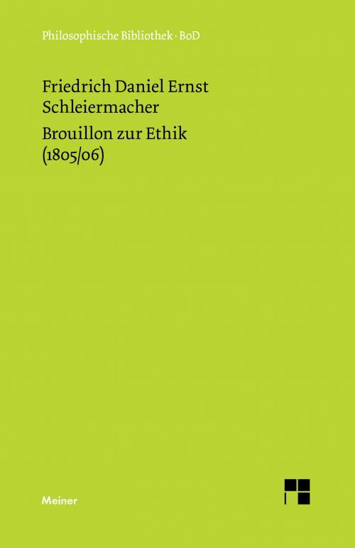 Brouillon zur Ethik (1805/06) cover