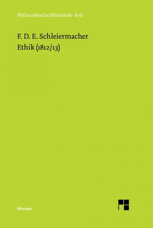 Ethik (1812/13) cover