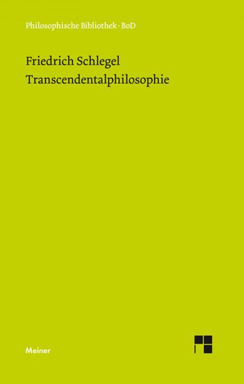 Transcendentalphilosophie cover