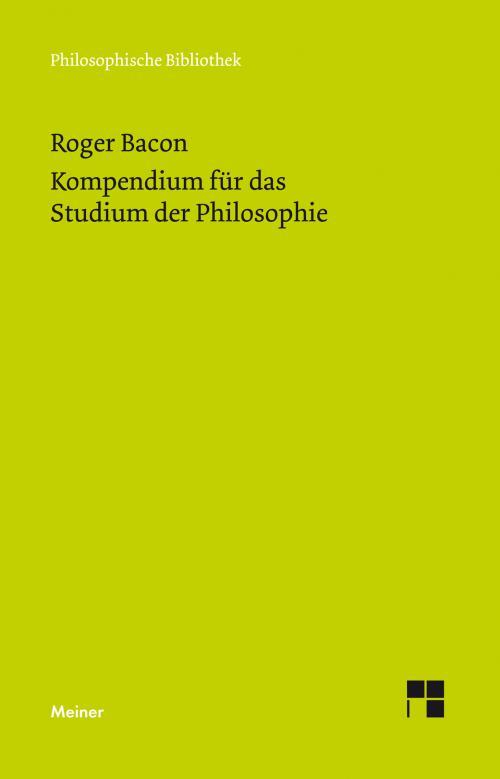 Kompendium für das Studium der Philosophie cover