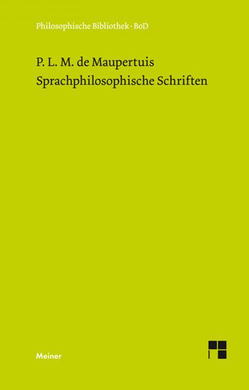 Sprachphilosophische Schriften cover