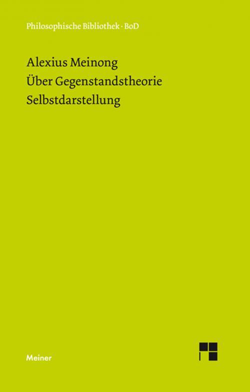 Über Gegenstandstheorie. Selbstdarstellung. cover