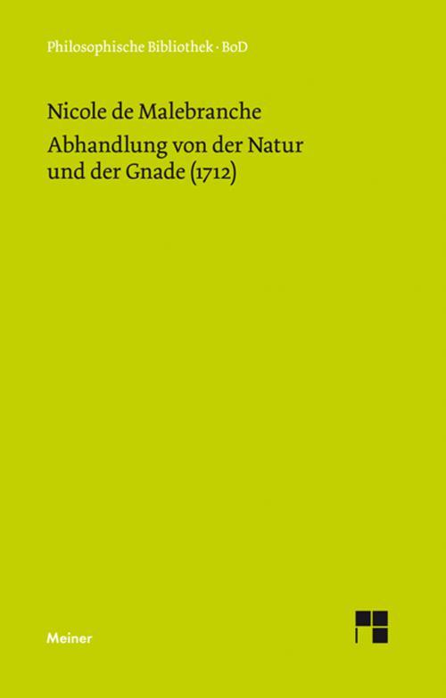 Abhandlung von der Natur und der Gnade (1712) cover