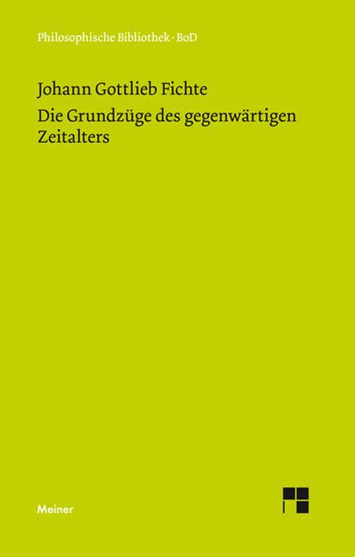Die Grundzüge des gegenwärtigen Zeitalters (1806) cover