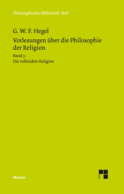 Vorlesungen über die Philosophie der Religion cover