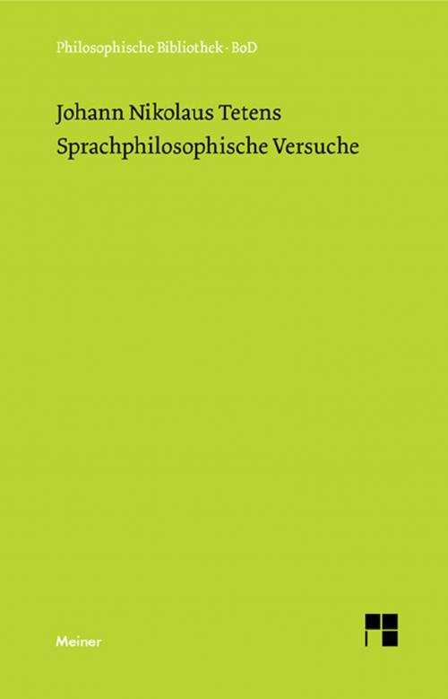 Sprachphilosophische Versuche cover