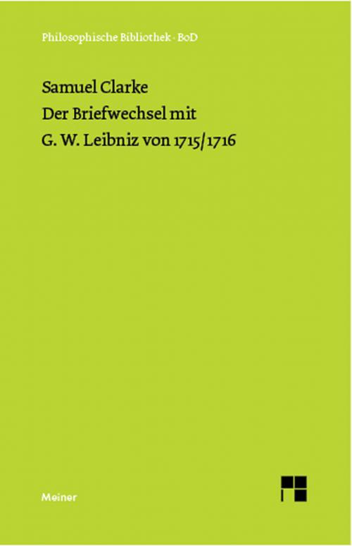 Der Briefwechsel mit G. W. Leibniz von 1715/16 cover