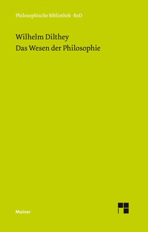 Das Wesen der Philosophie cover