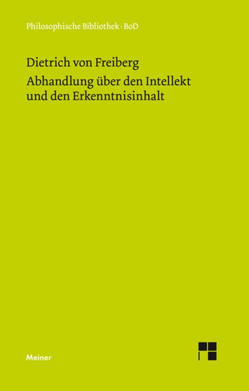 Abhandlung über den Intellekt und den Erkenntnisinhalt cover