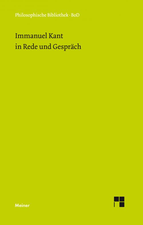 Immanuel Kant in Rede und Gespräch cover
