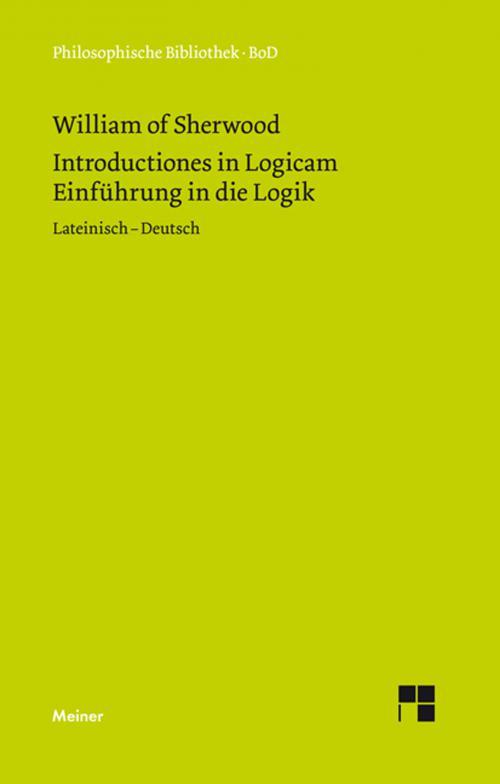 Einführung in die Logik. Introductiones in Logicam. cover