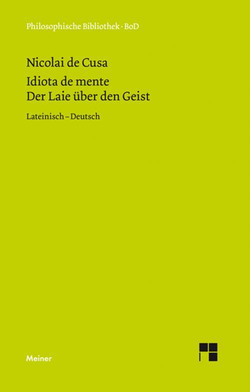 Schriften in deutscher Übersetzung / Der Laie über den Geist cover