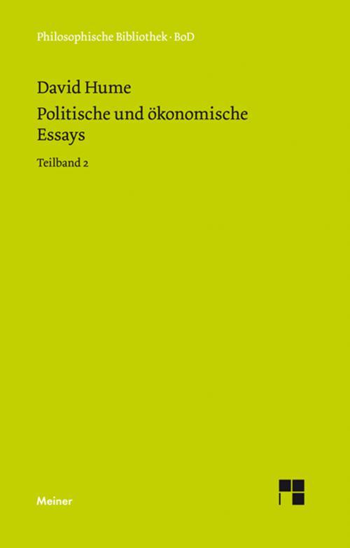 Politische und ökonomische Essays cover