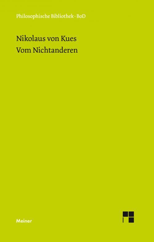 Schriften in deutscher Übersetzung / Vom Nichtanderen cover