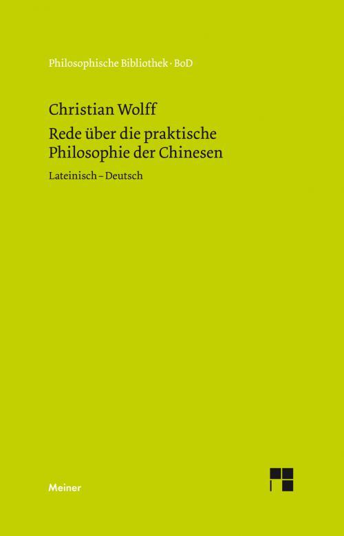 Rede über die praktische Philosophie der Chinesen cover