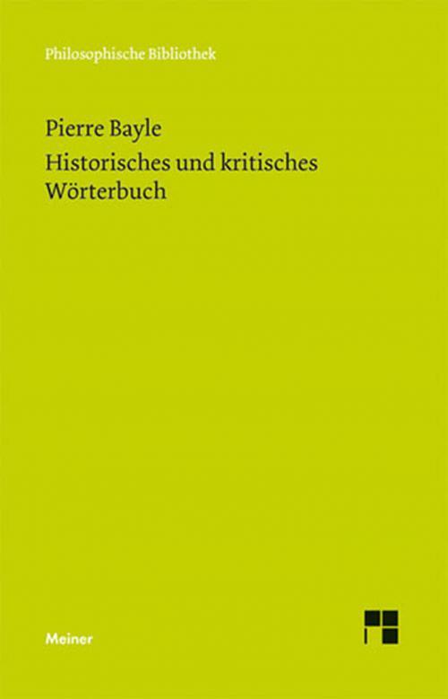 Historisches und kritisches Wörterbuch cover