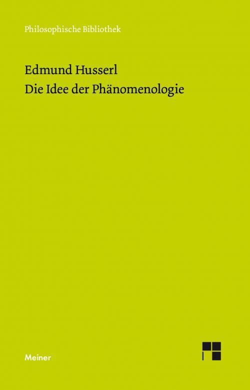 Die Idee der Phänomenologie cover