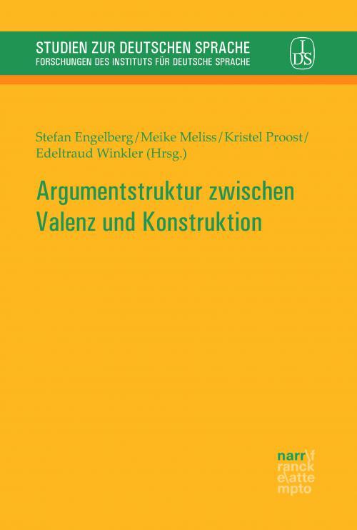 Argumentstruktur zwischen Valenz und Konstruktion cover