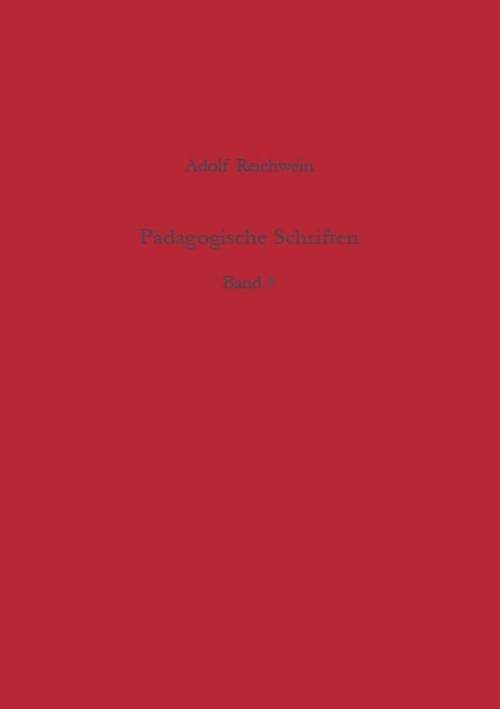 Pädagogische Schriften, Band 3 cover