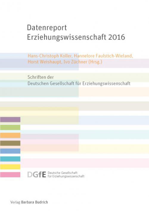 Datenreport Erziehungswissenschaft 2016 cover