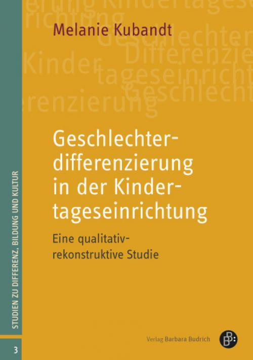 Geschlechterdifferenzierung in der Kindertageseinrichtung cover