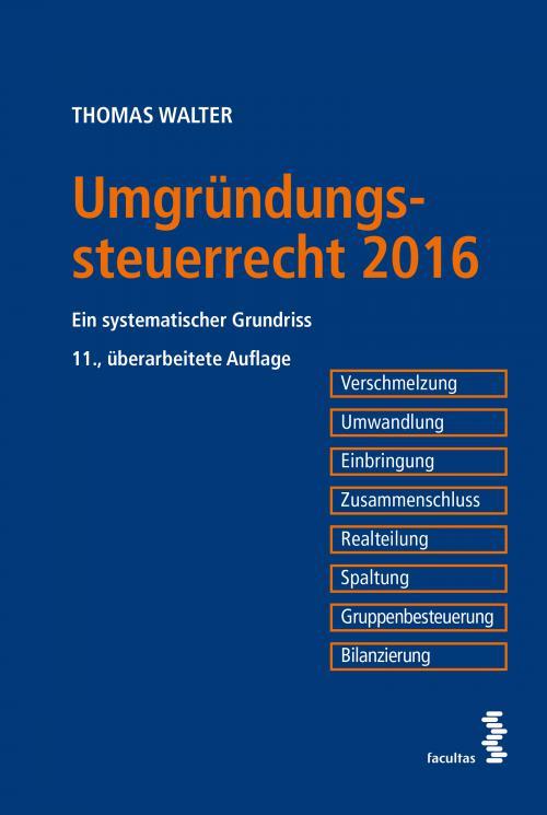 Umgründungssteuerrecht 2016 cover