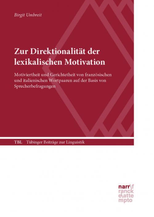 Zur Direktionalität der lexikalischen Motivation cover