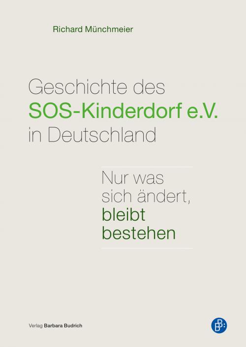 Geschichte des SOS-Kinderdorf e.V. in Deutschland cover