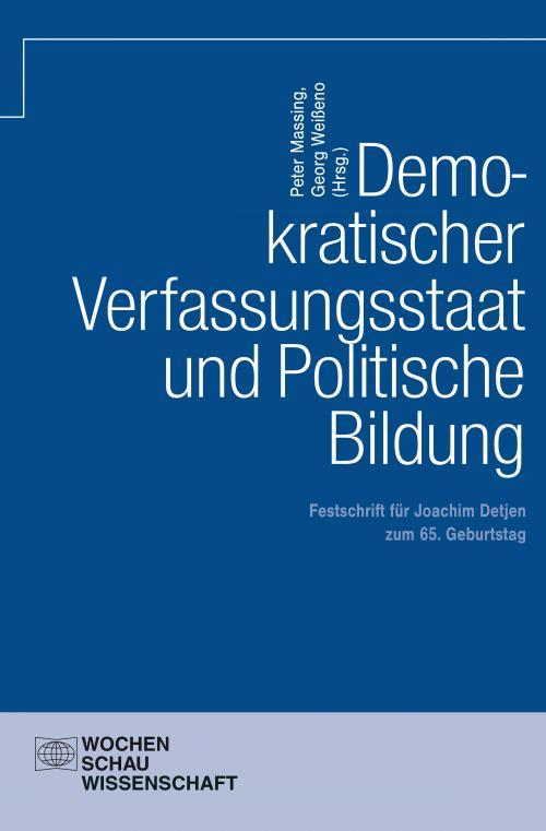 Demokratischer Verfassungsstaat und politische Bildung cover