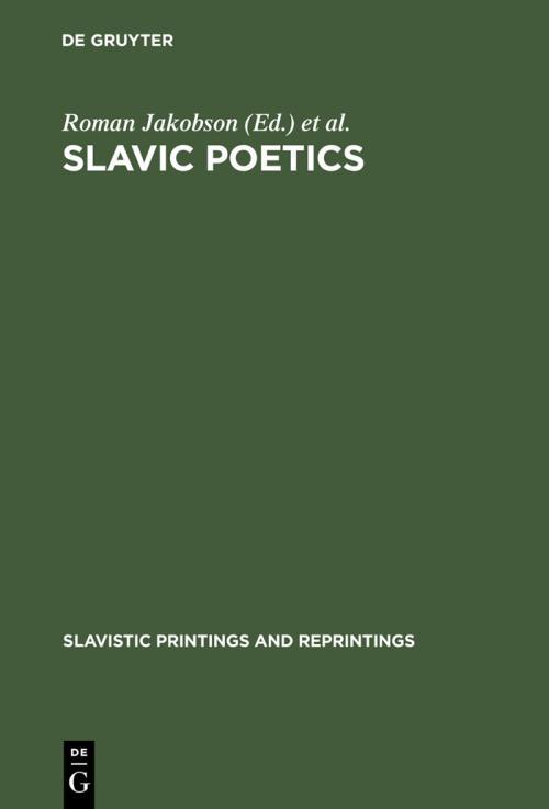 Slavic Poetics cover