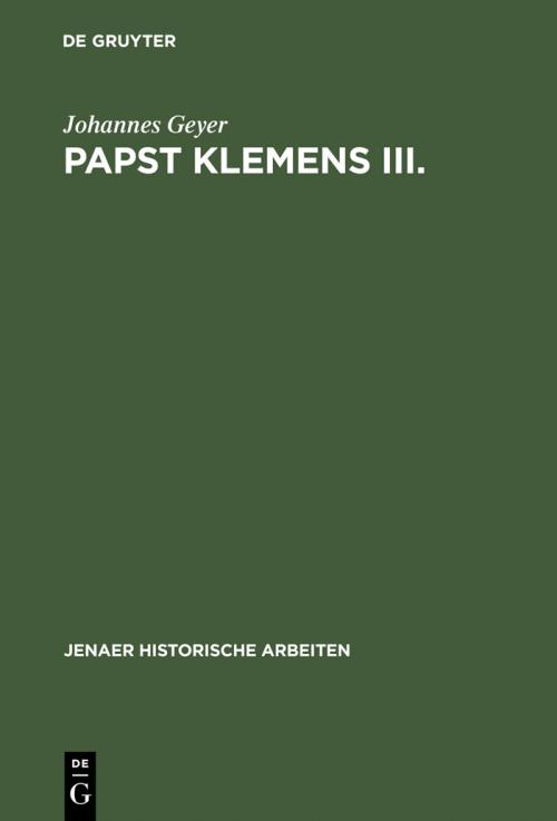 Papst Klemens III. cover
