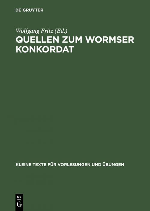 Quellen zum Wormser Konkordat cover